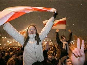 Митинг оппозиции в Минске 19 марта 2006 года
