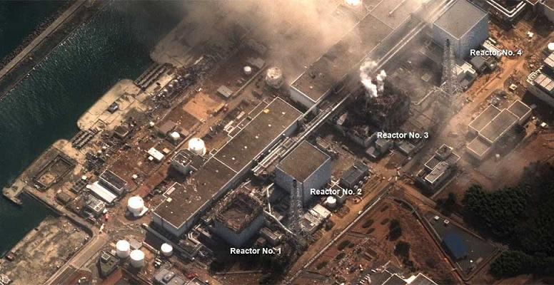 АЭС Фукусима-1 12 марта 2011 года.