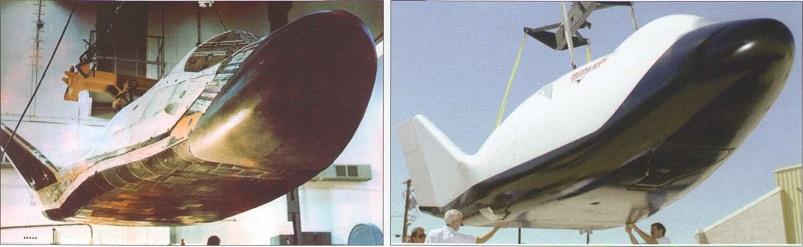 БОР-4 (май 1982 года) -  и американский аппарат Х-38  (август 1996 года).