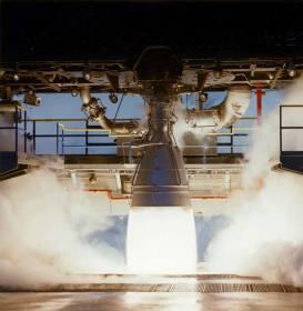 Двигатель НК-33 на стенде в США
