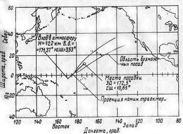 Место посадки командного отсека корабля Apollo-11