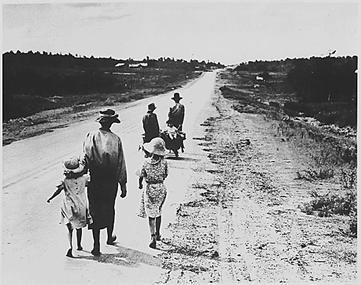 Бездомные фермеры на дорогах Америки - 1938 год